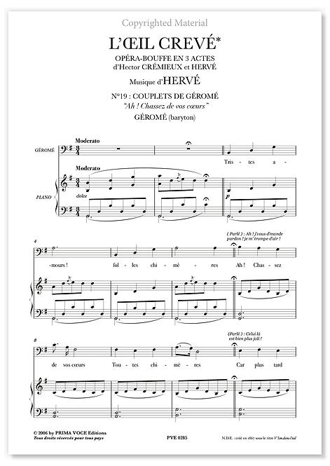 """Hervé • V'LAN DANS L'OEIL • """"Ah ! Chassez de vos coeurs"""" (baryton)"""