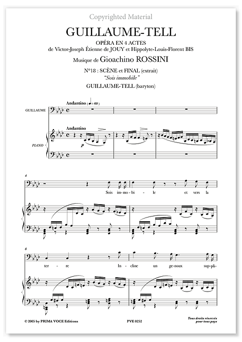 "Rossini • GUILLAUME-TELL • ""Sois immobile"" (baryton)"
