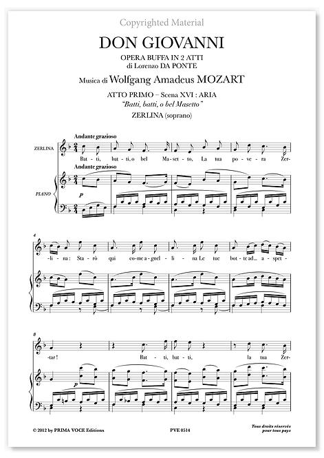 """Mozart • DON GIOVANNI • """"Batti, batti, o bel Masetto"""" (soprano)"""