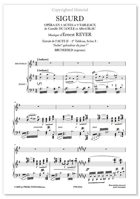 """Reyer • SIGURD • """"Salut ! splendeur du jour !"""" (soprano)"""