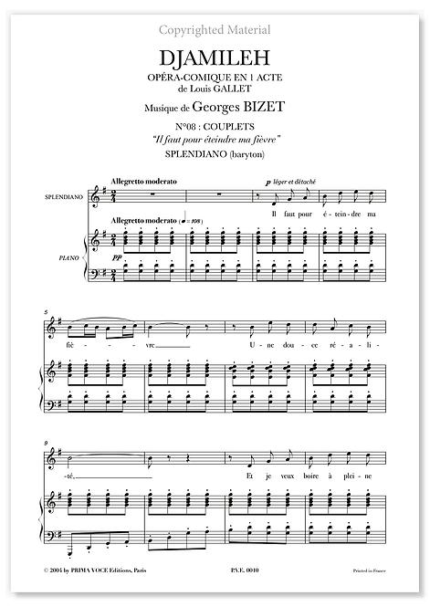 """Bizet • DJAMILEH • """"Il faut pour éteindre ma fièvre"""" (baryton)"""