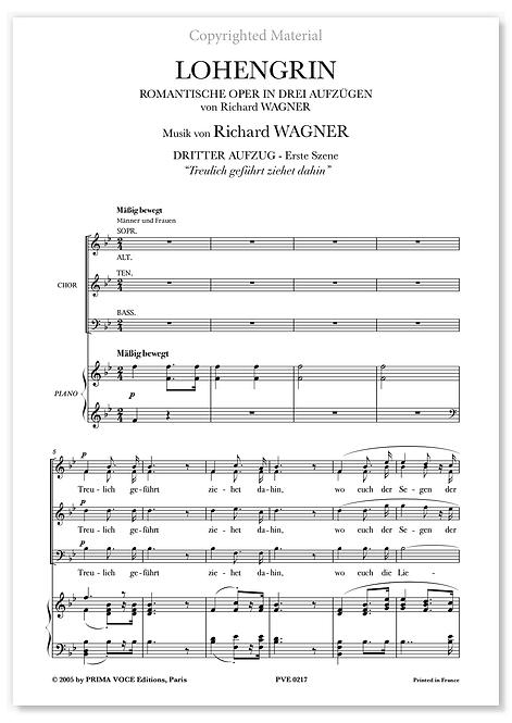 """Wagner • LOHENGRIN • """"Treulich geführt ziehet dahin"""" (choeurs)"""