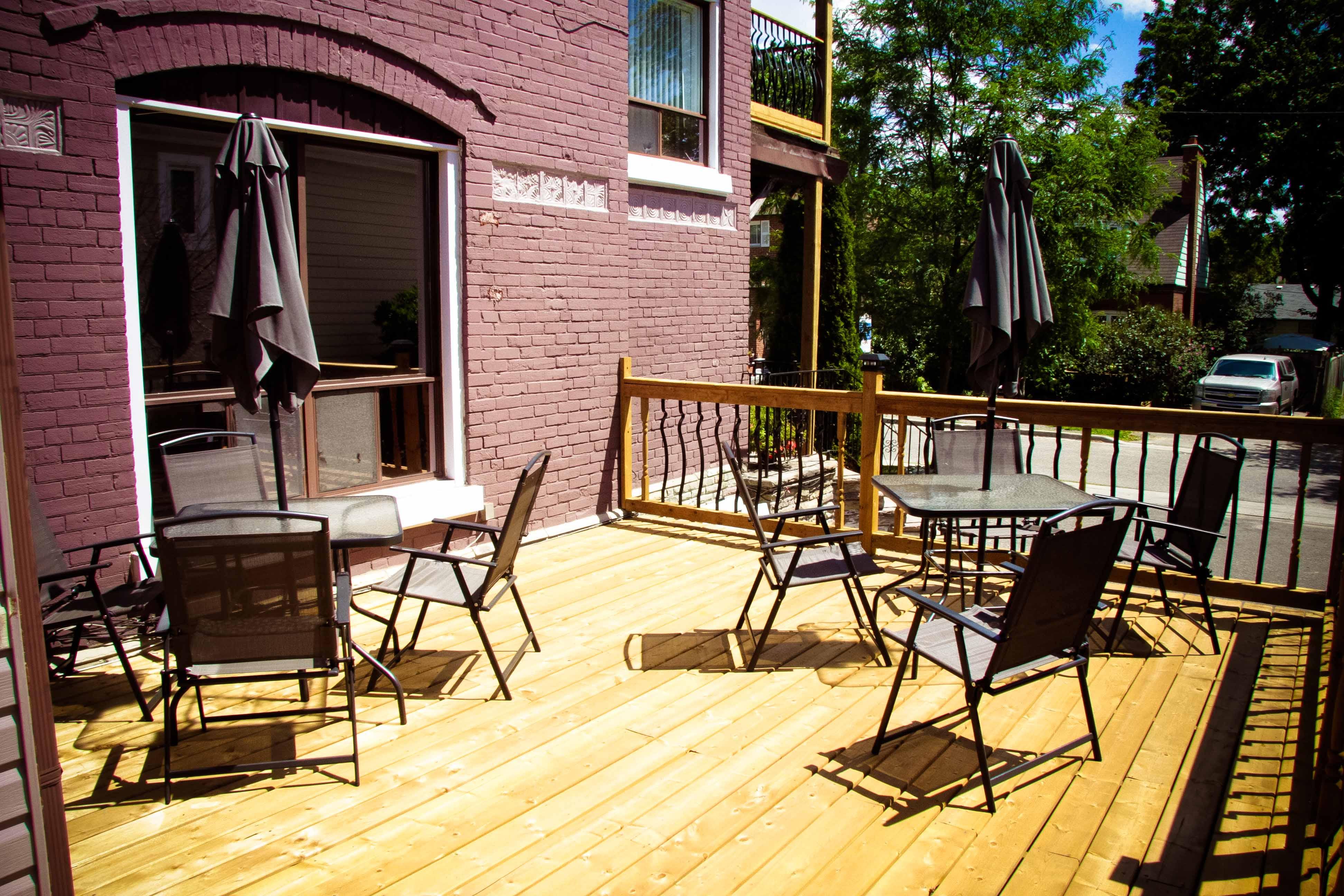 Rosedale front deck