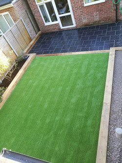 Patio and artifical grass 2016