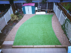 artificial grass and path 2