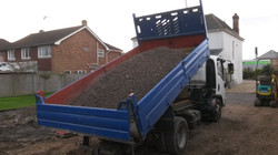 Aggregate deliveries and groundworks