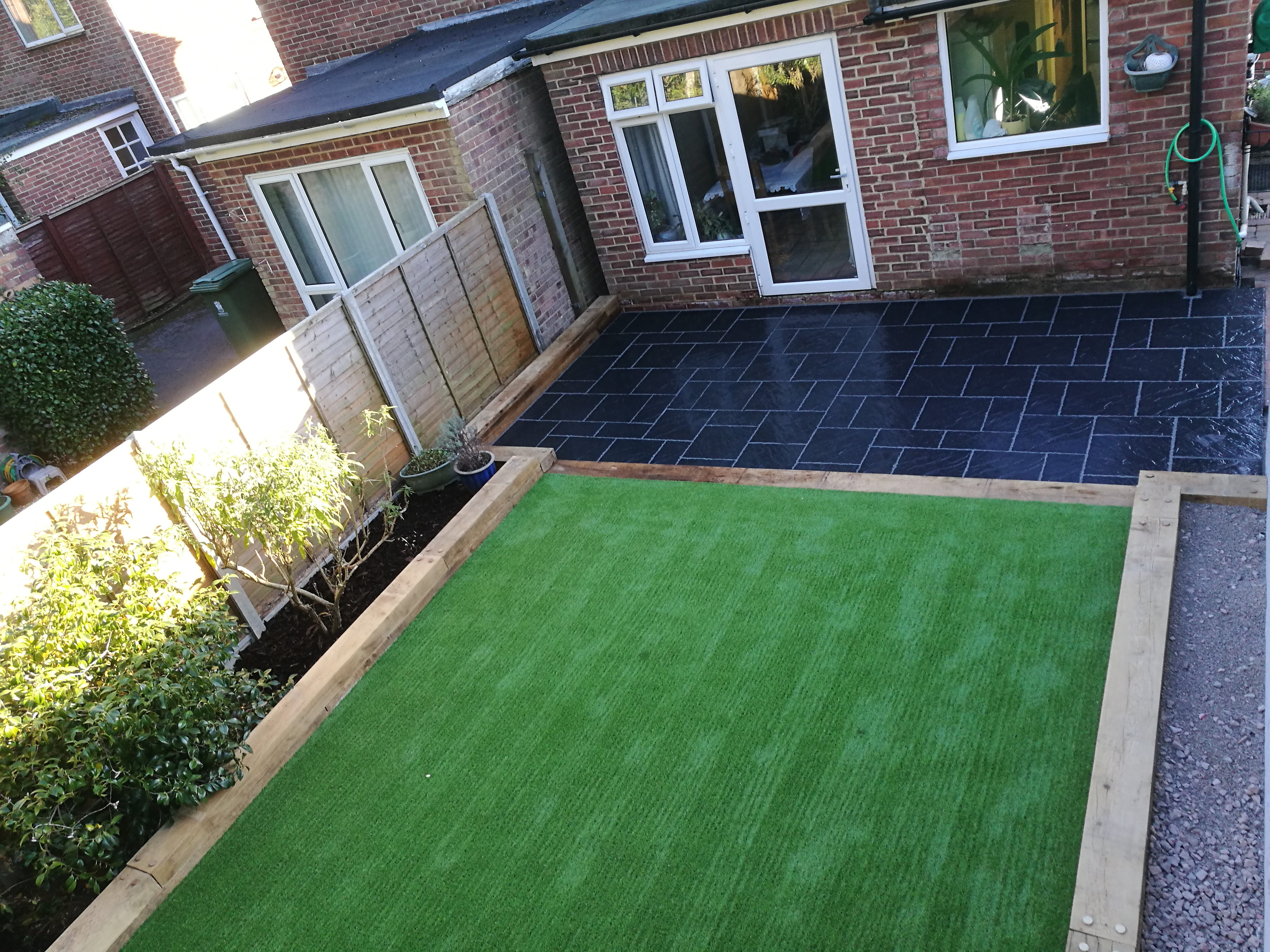 Patio & artificial grass