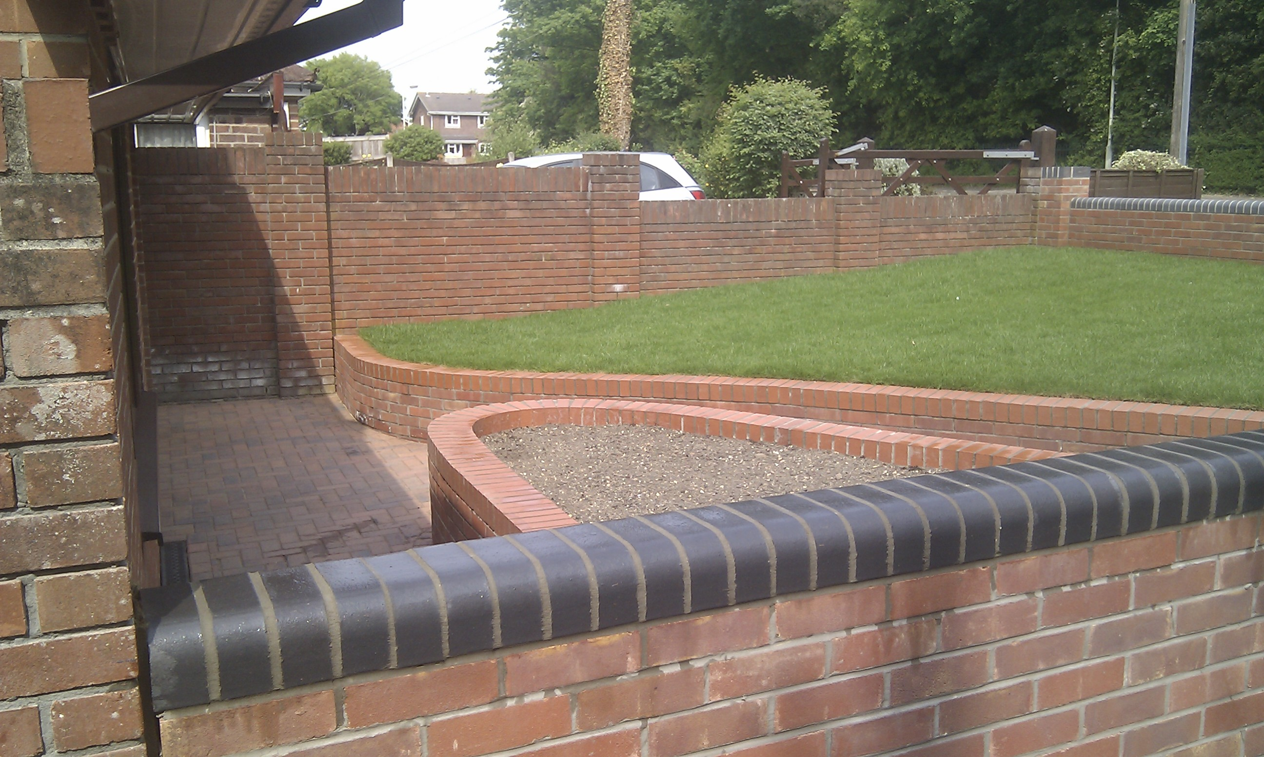 Brickwork and paving