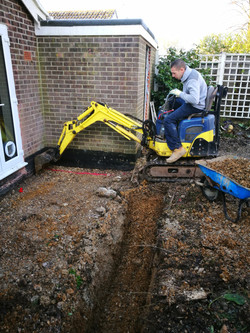 Footings ready for conservatory