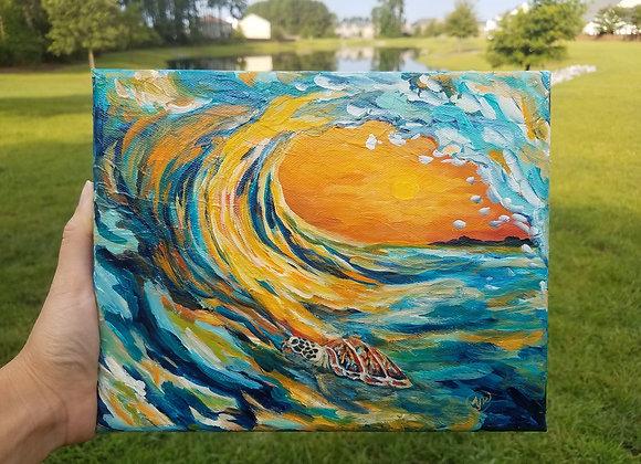 """Cruising the waves"""
