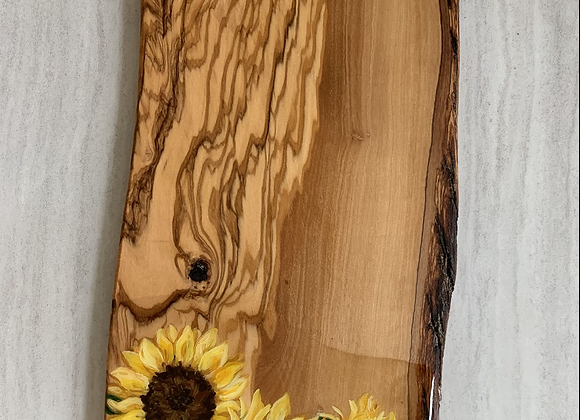 Reserved- Sunflower Olive wood charcuterie board
