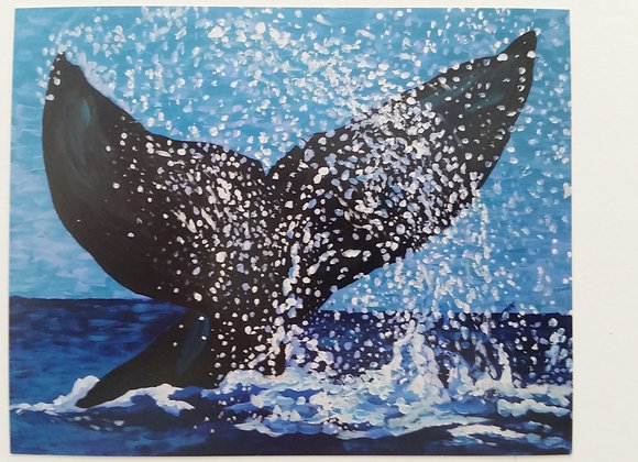 Whale Tail 8x10 inch