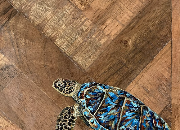 Sea turtle solid wood charcuterie /cutting board