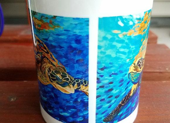 Double sea turtle Navy blue 11oz. Mug