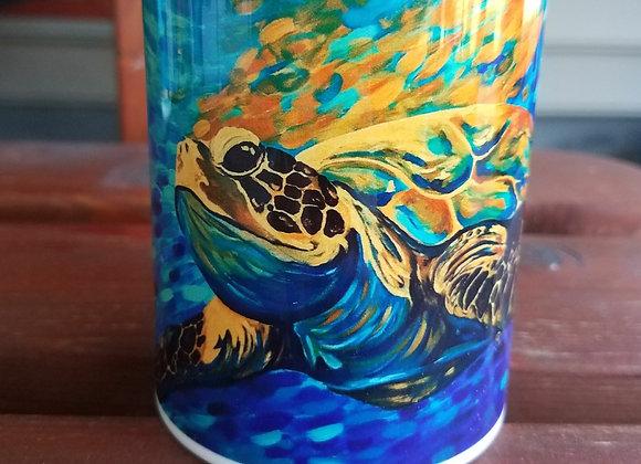 Sea turtle and crab 15 oz and 11oz coffee mugs
