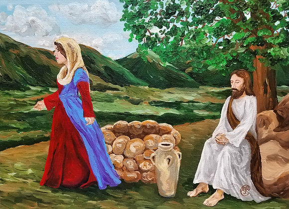 """""""Samaritan women by the well with Jesus"""""""