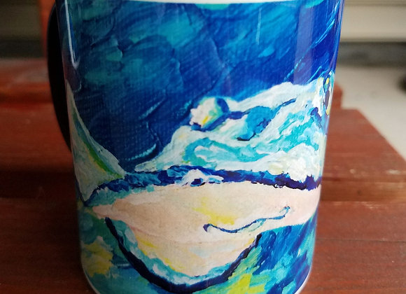 Stingray Navy blue 11 oz coffee mug