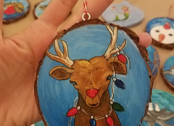 E.T. reindeer with lights ornament
