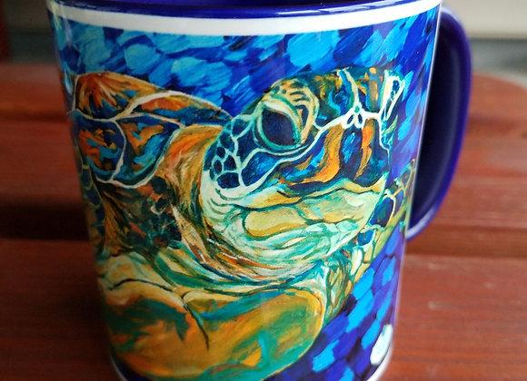 Sea turtle Navy blue 11 oz. or 15oz coffee mug