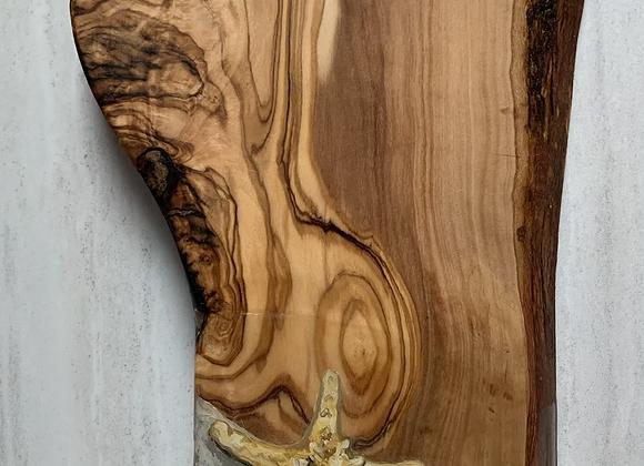 Custom order Baby sea turtle and starfish cutting/charcuterie board