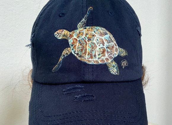 Hand painted custom baseball hat