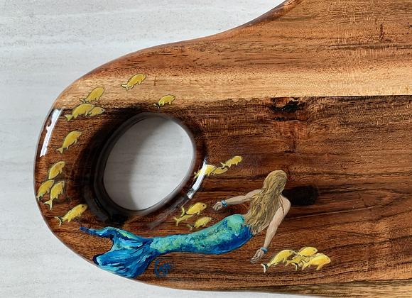 Custom order Mermaid and yellow fish cutting/charcuterie