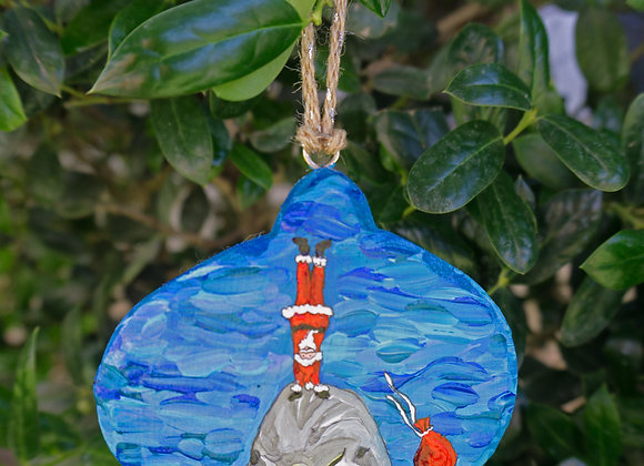 Hand stand dolphin Ornament