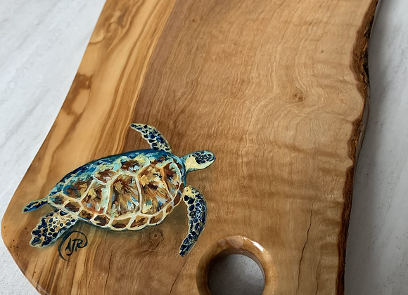 Colorful Sea turtle cutting/charcuterie board
