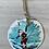 Thumbnail: Santa surfing sand dollar ornament