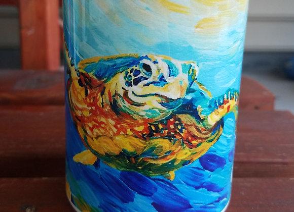 Sea turtle and fish Navy 11oz or 15oz coffee mug