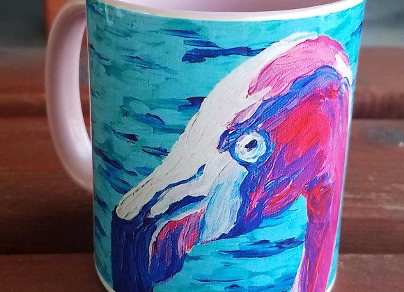 Flamingo Pink 11oz coffee mug