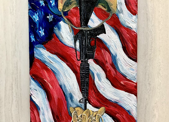 """""""For the fallen"""" acrylic paint on stretched canvas"""