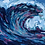 Thumbnail: Wave acrylic painting