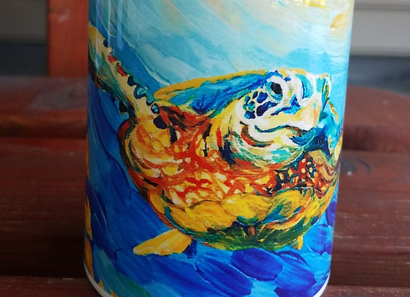Sea turtle and fish 11oz coffee mug