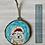 Thumbnail: Polar bear with Santa hat ornament