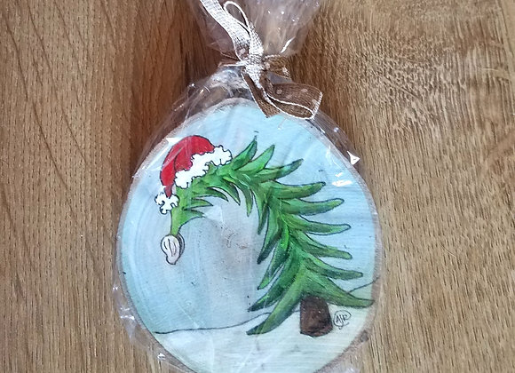 Christmas tree and oyster ornament