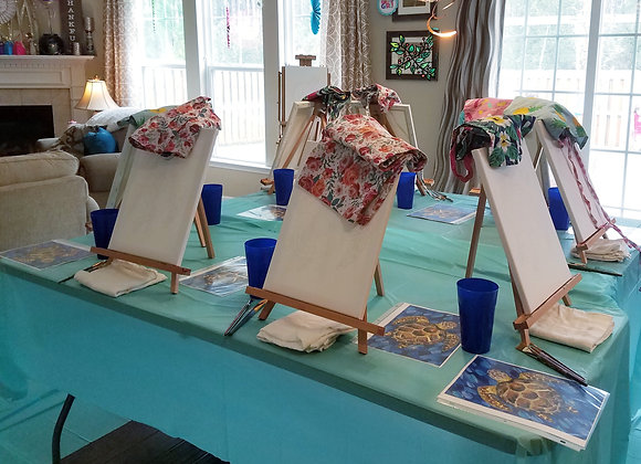 Birthday/Special occasion paint party class with Amber Ruehe
