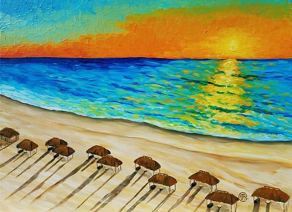 San Marco Island beach fine art paper