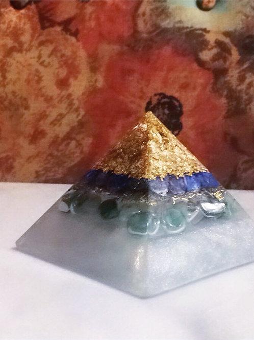 Lapis Lazuli  Green Aventurine  Gold flakes