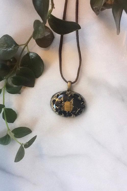 Obsidian Tiger's Eye Pendant