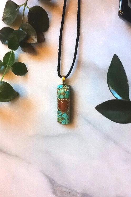 Carnelian  & Turquoise  Pendant