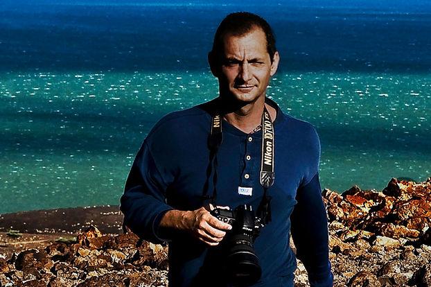 Giulo D'Ercole on a Photo shoot.
