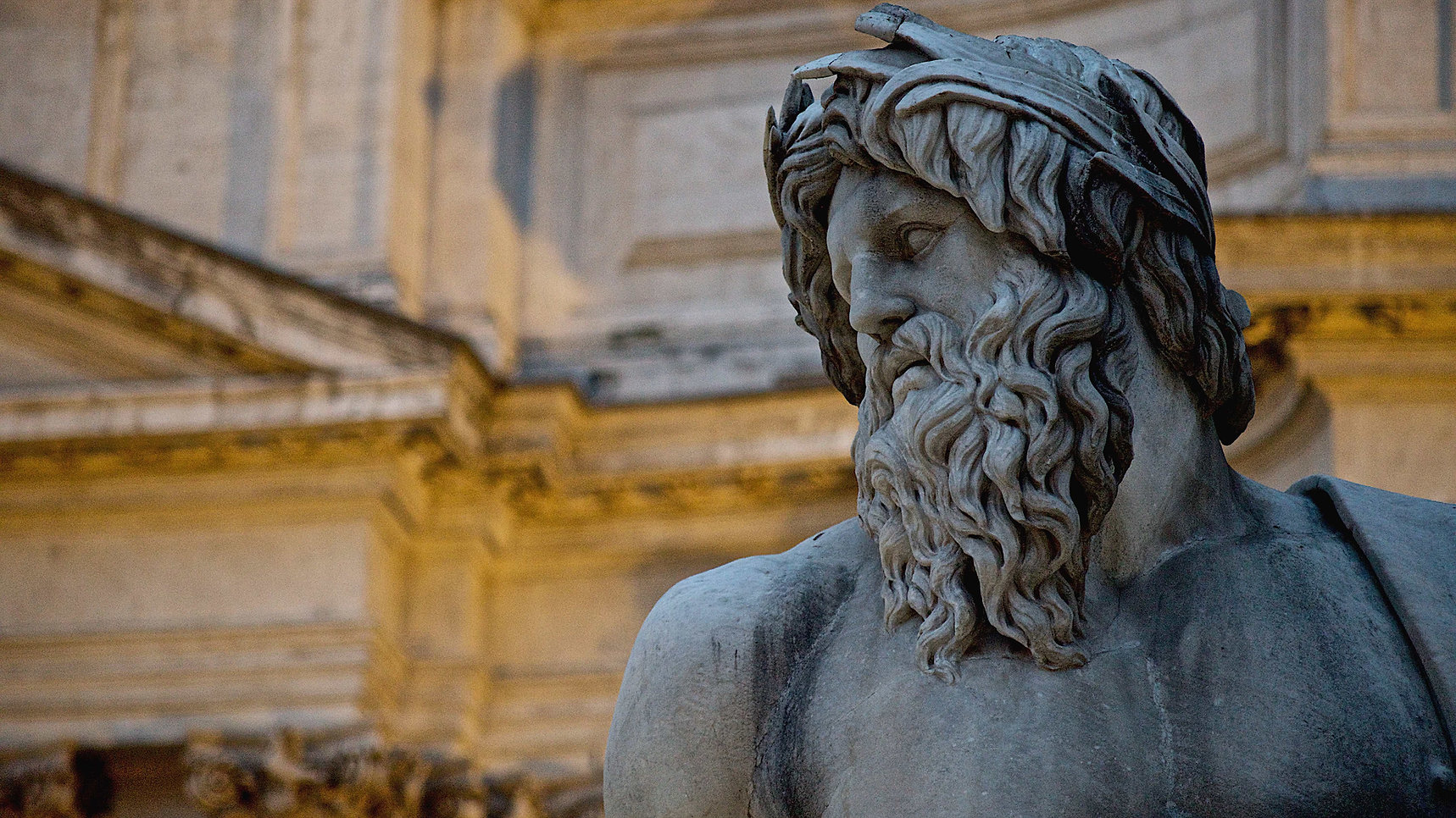 Detail of Bernini's Fountain of the Four Rivers in Piazza Navona, in Rome. Photo by Giulio D'Ercole, Rome Photo Fun Tours