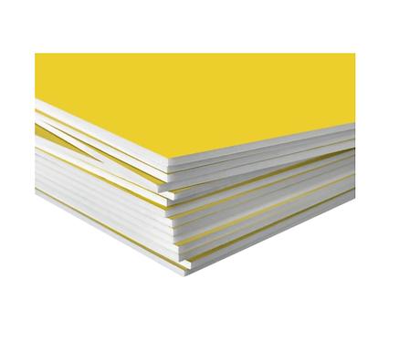 Depron foam board 600x1220mm 4 feet yellow color