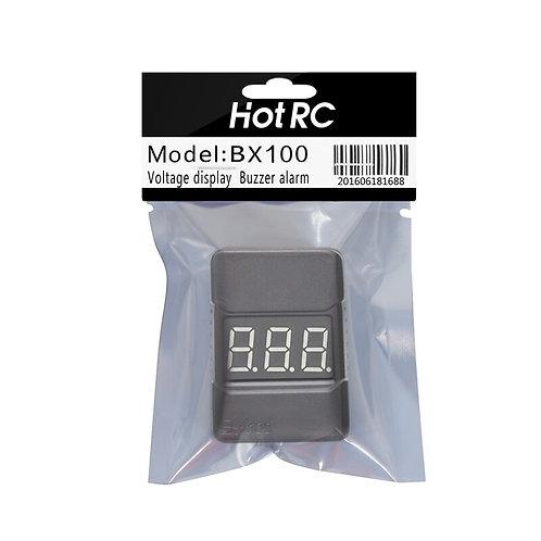 original Hotrc BX100 1-8S  Lipo Battery Tester Low Voltage Buzzer