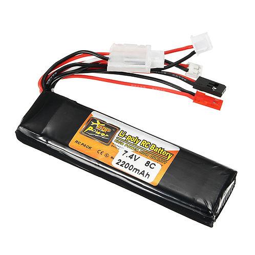 ZOP POWER 7.4V 2200MAH 8C 2S lipo battery for transmitter