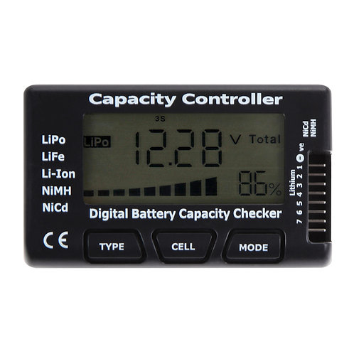 Digital Battery voltage Capacity checker