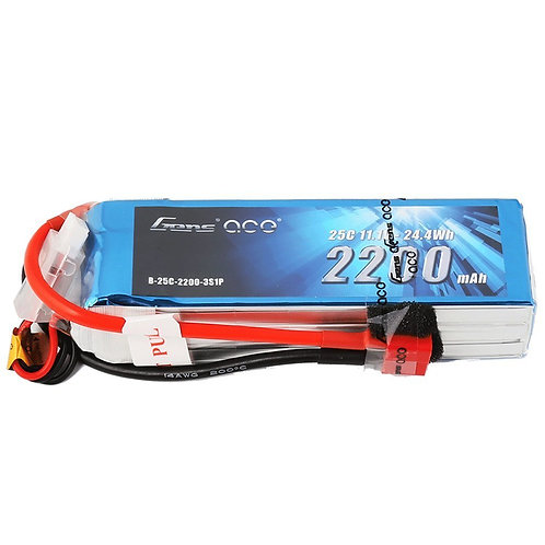 Gens ace 3s 11.1v 2200mah 25c lipo battery
