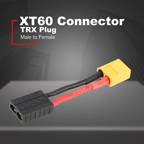 Male XT60 Connector to Female Traxxas connector 50mm