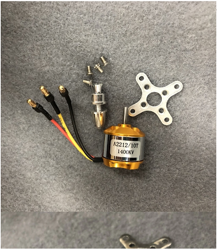 2212 1400kv brushless motor with connectors